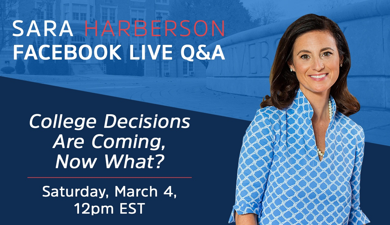 Facebook LIVE Recap and Bonus Questions: College Admissions Decisions Are Coming, Now What?