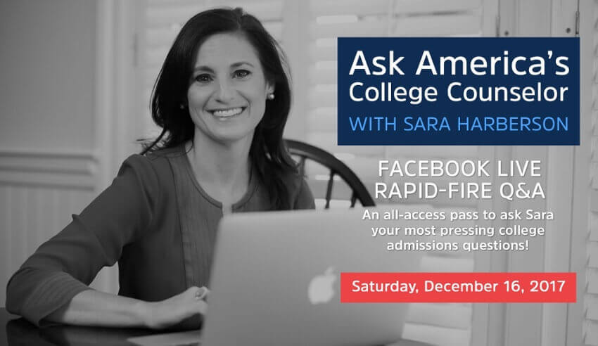 Facebook Live Recap and Bonus Questions: Ask America's College Counselor (12.16.17)