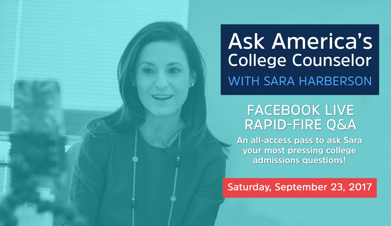 Facebook Live Recap and Bonus Questions: Ask America's College Counselor (9.23.17)