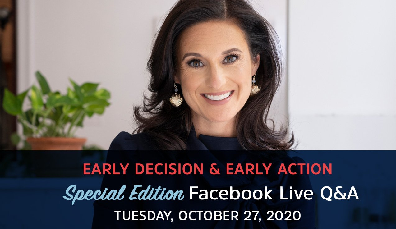 Special Edition Facebook Live Recap: Early Decision & Early Action