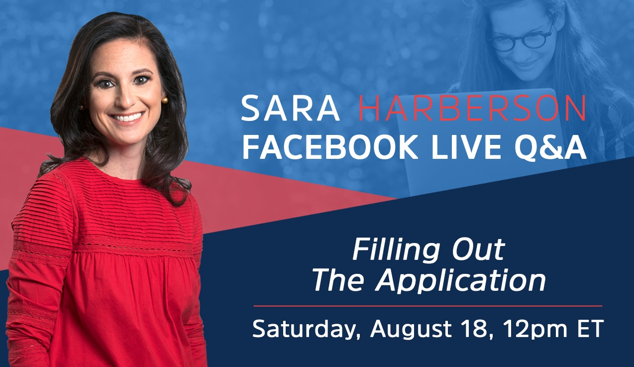 Facebook Live Recap and Bonus Questions: Filling Out the Application