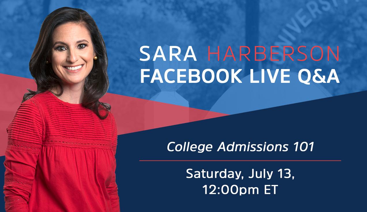 Facebook Live Recap: College Admissions 101