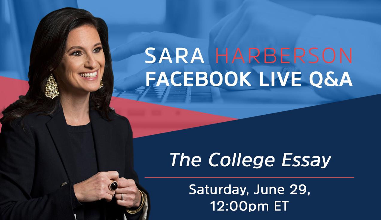 Facebook Live Recap: The College Essay