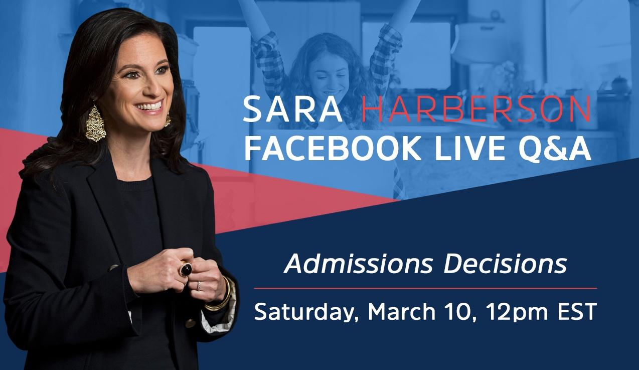 Facebook Live Recap and Bonus Questions: Admissions Decisions
