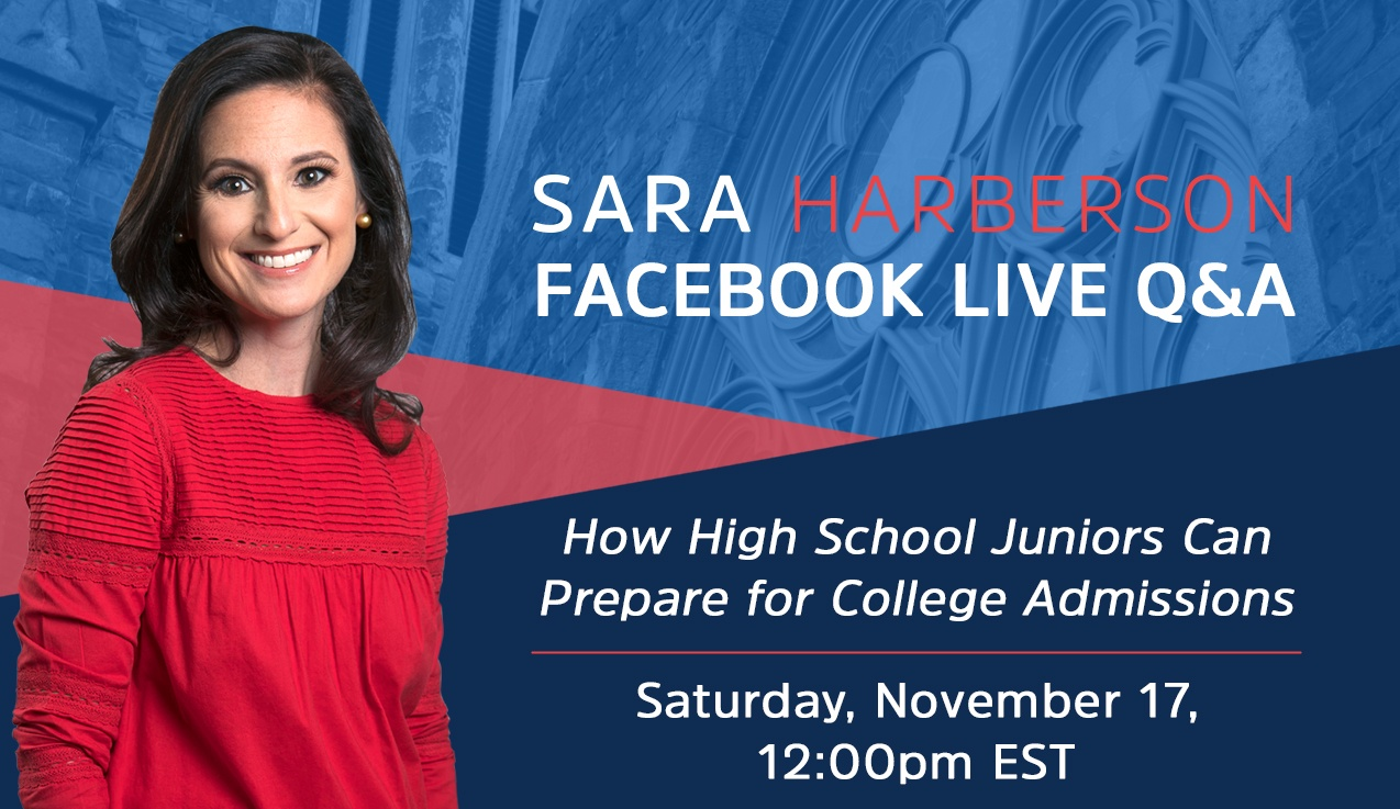 Facebook Live Recap: How High School Juniors Can Prepare for College Admissions