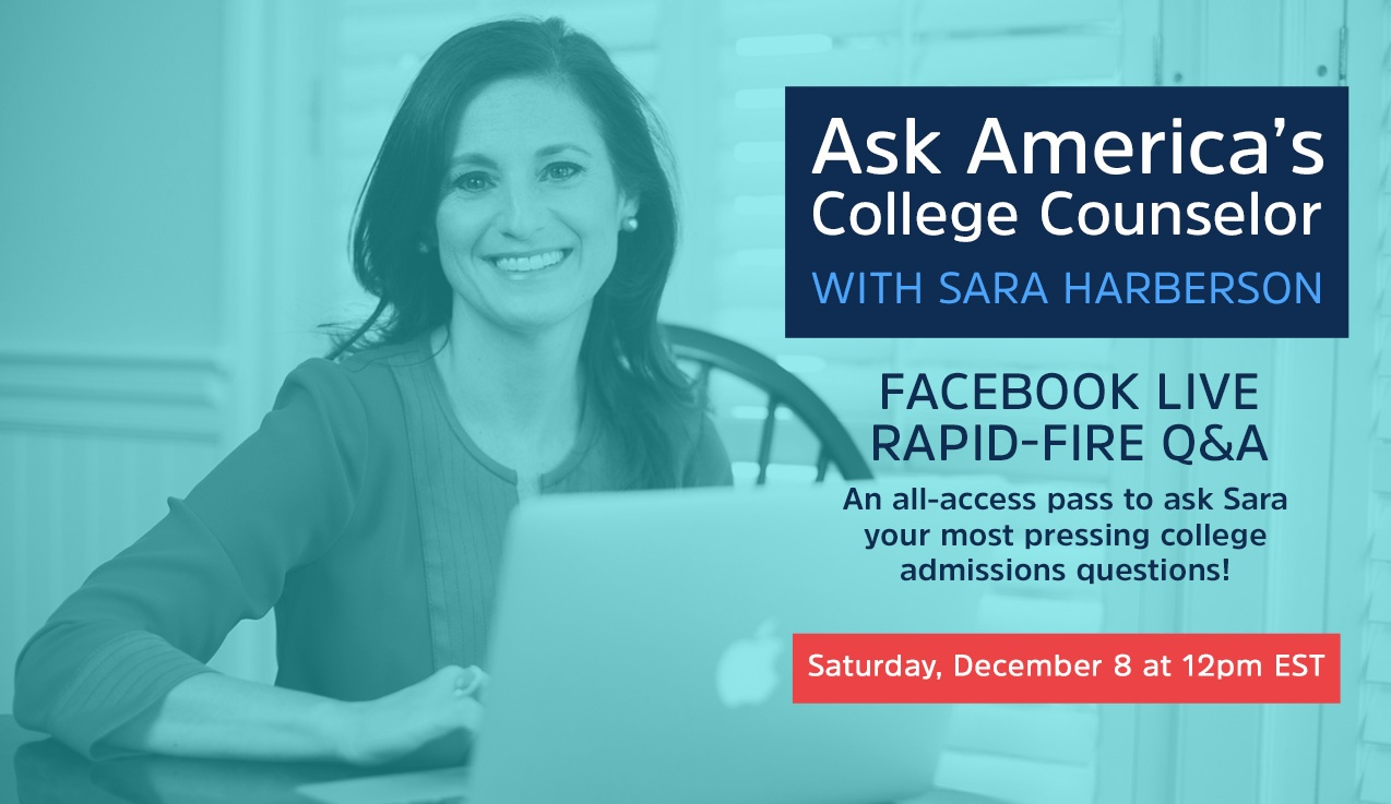 Facebook Live Recap: Ask America's College Counselor (12.8.18)